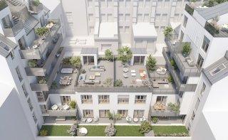 Visualisierung Innenhof Hohenbergstraße 20
