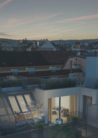 Außenvisualisierung Nacht Schoppenhauerstrasse